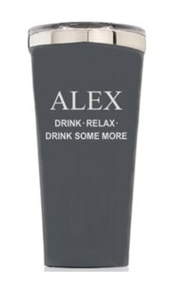Personalized 16oz. Matte Grey Tumbler
