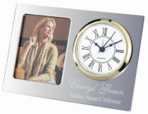 Personalized Two-Tone Desk Clock with Photo