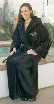 Personalized Unisex Velour Hooded Bath Robe