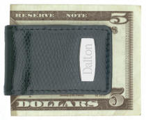 Black Snake Skin Money Clip