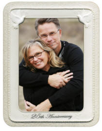 Porcelain 5x7 25th Anniversary Photo Frame
