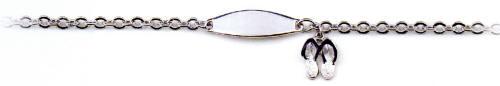 Flip Flop Charm ID Bracelet