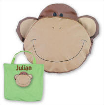Personalized Monkey Tiny Tote