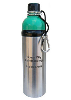 Personalized Green Stainless Steel Water Bottle