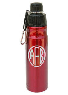 Personalized Red Stainless Steel Water Bottle