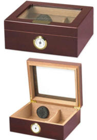Personalized Cigar Humidor with Glass Top