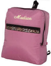 Large Pink Cheetah Children's Backpack