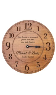 Personalized Round Wood Clock V2