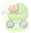 Personalized Baby Gift Stroller Graphic