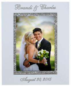 8x10 glitter galore engraved photo frame - Engraved Picture Frame