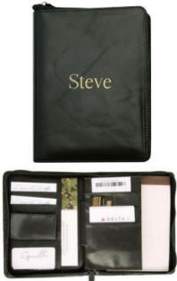 Personalized Leather Padfolio Front View