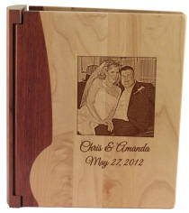 Maple Two-Tone Wooden Photo Album
