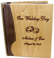 Personalized Walnut Two-Tone Wooden Photo Album
