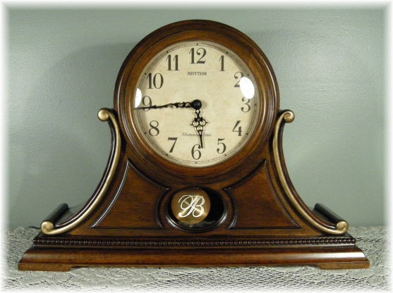 Tuscan Style Personalized Wood Clock
