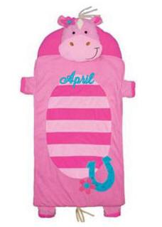 Personalized Stephen Joseph Pink Horse Nap Mat