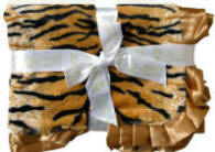 Tiger Faux Fur Baby Blanket