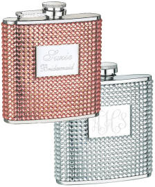 Personalized Rinestone Flasks