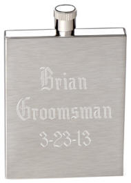 3 oz Engraved Stainless Steel Pocket  Flask