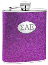 Personalized Purple Glitter Flask