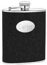 Engraved Black 6 oz. Glitter Flask