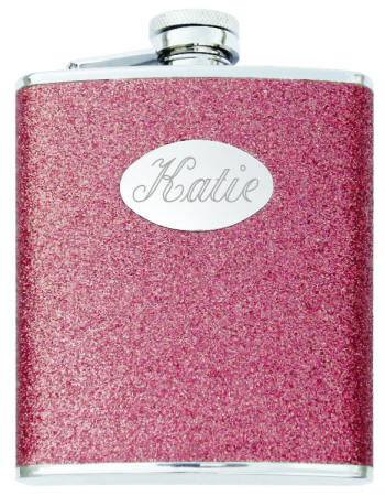 Details about  /Flask Hot Pink Creative Gifts International With Engraving Plate New