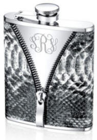 Engraved Snikeskin Zipper Flask