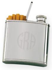 2 oz. Cigarette Holder Flask