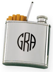 2 oz. Cigarette Holder Flask