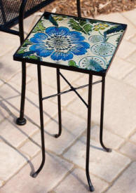 Poppy Paradise Square Garden Table