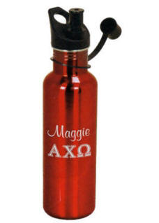 Personalized Red 25 oz Stainless Water Bottle