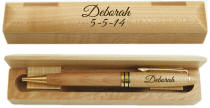 Personalized Maple Box & Pen Set
