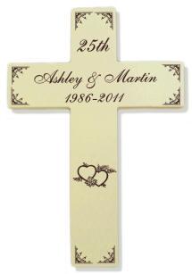 Personalized Large Cream Finish Cross