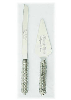 Clear Stones Cake Server Set