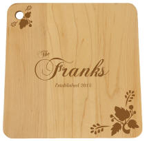 Family Middlebury Square Cutting Board with Leaves