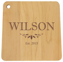 Middlebury Square Cutting Board | Engraved Cutting Board