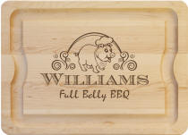 Personalized Full Belly  BBQ Board