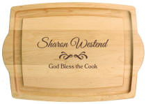 Personalized Cutting Boards | Farmhouse Carver with Handles
