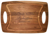 Personalized Cherry Feathered Edge Cutting Board