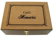 Personalized Wooden Memory Keepsake Box