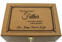 Memories a (Any Person) Leaves Wooden Keepsake Box