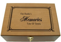 Personalized Our (Any Person) Memories Wooden Keepsake Box