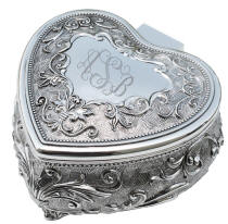 Personalized Venice Heart Keepsake Box