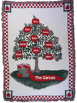 Three Layer Apple Tree Afghan