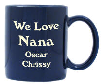 Personalized 11 oz. Cobalt Blue Coffee Mug
