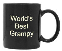 Personalized Black 15 oz. El Grande Coffee Mug