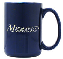 Blue 15 oz. El Grande Logo'd Coffee Mug