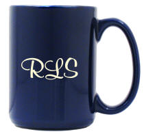Personalized Cobalt Blue El Grande Coffee Mug