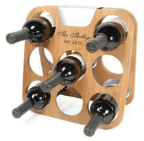 Personalized Bamboo Wine Rack with the Famous Rabbit Brand