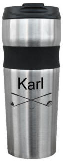 Personalized Stainless Steel Contour Travel Mug