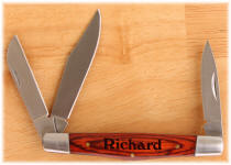 Personalized Wood Handled Jackknife